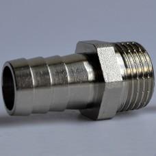 Штуцер для шланга KALDE 1/2'' * 20mm (никель)